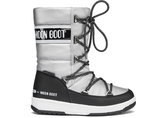 Moon Boot Quilted WP Winter Boots Meisjes, silver/black